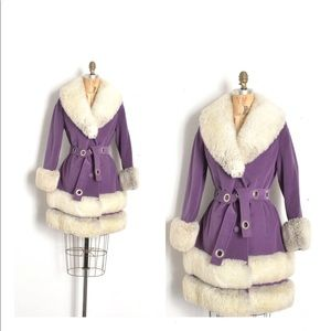 Vintage 1970s Country Pacer Purple Coat